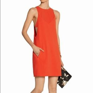 T by Alexander Wang size 4 red layered dress